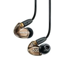 Wholesale Headset Hifi Earphones - HIFI fever Ear Monitoring earphones with microphone se535 sports se 535 special edition ear listening earplug headset in ear wired earphone