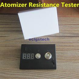 Wholesale Ego Digital - Atomizer Ohm Meter Ecig OHM Tester Digital Ohmmeter Voltmeter Resistance ohm Reader For 510 Ego RDA Evod Ce4 MT3 Atomizer And Batteries