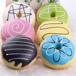 Wholesale Coloured Charms - Cream Bread Squishy Phone Straps Charms Muilt Colour Squishies Slow Rebound Take Photos Prop Adult Decompression Toy 3 8lga CR