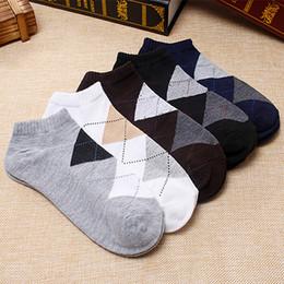 Wholesale Male Nylon Socks - Wholesale-10Pair Sport Socks For Men Striped Fashion Male Socks Short Chaussettes Homme Lot Odd Future Socks Meias Masculino