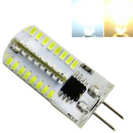 Ampoules t5 en Ligne-G4 T5 ampoule Dimmable AC 120V 220V 3W 64LEDs 3014 SMD LED lampe de lumière Silicone Crystal Blanc 6500K / Blanc chaud 3500K