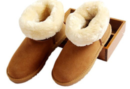 Wholesale Gift Buttons - TOP AUSTRALIA HOT SELL CLASSIC SHORT WOMEN SNOW BOOTS FUR INTEGRATED KEEP WARM BOOTS SHOES WGG W IS THE U BEST CHRISTMAS GIFT US4-UDS12