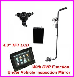 """Wholesale Inspection Monitor - New Arrvial Home V3D Under Vehicle Inspection Detector Car Inspection Mirror With DVR Function with Camera and 4.3"""" LCD Monitor"""