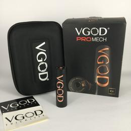 Design de caixa de cigarro eletrônico on-line-100% Autêntico Vgod Promech mod Novo Design Fit TRICK TANK PRO RDTA 510 Atomizers Electronic cigarette Box mod