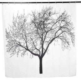 Wholesale Tree Print Curtain - 2016 New Exclusive Tree Printed Waterproof Mouldproof Bathroom Shower Curtains A00352