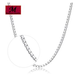 Wholesale Part Box Stainless - Wholesale- Fashion Women Gold Color Chain Necklace Boxes Chain 45cm 18 inch Female Jewelry thickening link Pendant Parts
