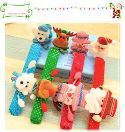 lampeggiante tasto di ricerca leggera Sconti Christmas Ornament Christmas schiaffo braccialetto braccialetto Xmas pat cerchio anello mano Babbo natale pupazzo di neve orso cervo braccialetto regalo di Natale B11