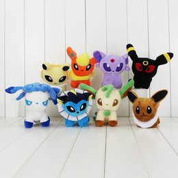 "Wholesale Flareon Plush - Poke 8 Styles 6"" Plush Doll umbreon eevee pocket espeon jolteon vaporeon flareon stuffed toys free shipping"
