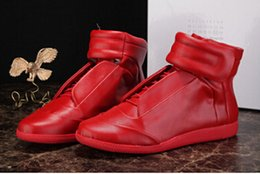 Wholesale Rubber Express - 2017 new fashion Maison Martin Margiela sneakers high quatily shoes men Leather High-Top Casual shoes Free Express 38-47
