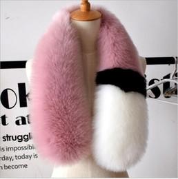 Wholesale Dots Chiffon Scarf - 2017 womens winter newest fashionable scarf luxury brand scarves fox fur scarfs foulards echarpe hiver femme fulares mujer schal luxus mark