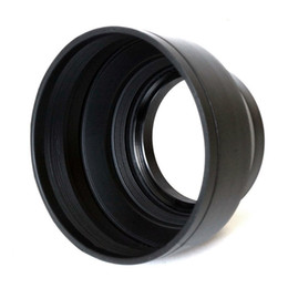 Wholesale Universal Lens Hood - 55mm Professional 3 Stage Section Collapsible Universal Rubber Multi-Lens Hood