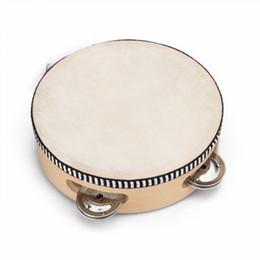 """Wholesale Percussion Tambourine Drum - Wholesale-Good deal 6"""" Musical Tambourine Tamborine Drum Round Percussion for KTV Party"""