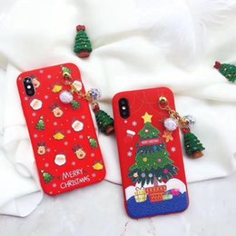 Wholesale Iphone Snowman - New Fashion Christmas Series Snowman Lovers christmas tree Phone Shell Present silicone Cover Back Protective For Iphone
