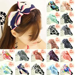 Wholesale Silk Hair Bows For Girls - Headbands For Girls Flower Big Bowknot Ribbon Cheerleading Hair Bows Hair Headband Bow Head Band Flower Hair Clips