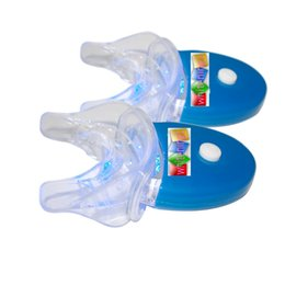 Wholesale Light For Mouth - 2 Sets 5 Tubes LED Teeth Whitening Accelerator Light with Mouth Tray for Home Teeth Whiten Batteries Included | Blue