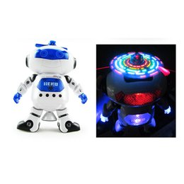 Wholesale Space Model Toys - NEW Dancing Robert Electronic Toys With Music And Lightening Best Gift For Kids Model toy space robot dance creative
