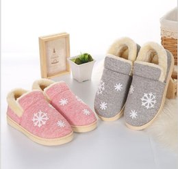 Wholesale Lovers Slippers Indoor - Women Winter Warm Ful Slippers Women Slippers Cotton Sheep Lovers Home Slippers Indoor Plush Size House Shoes Woman G842