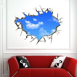 Wholesale Wall Clings For Living Room - Wholesale High Quality 3D sticker Wall Sticker 50*70CM Paster Art Home Decor Livingroom Bedroom Waterproof stickers