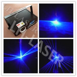Wholesale Dmx Sd Card - 300mw single blue laser light DMX party light light, blue beam Disco Laser Light with sd card