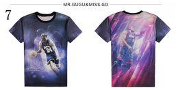 Wholesale Lebron T Shirts - 2016 fashion men 3D tee shirt Harajuku graphic print Basketball star LeBron KOBE funny t-shirt tops