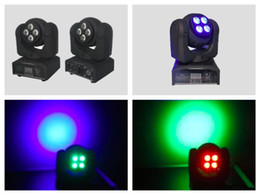 Wholesale Spot Moving Head Light Wash - 6pcs lot, Double side 1x10W RGBW Beam + 4x10W RGBW Wash Moving head Light Quad 4in1 double side dj party flash wash spot stage