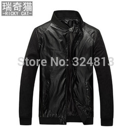 Wholesale Men S Thin Leather Jackets - Fall-Men's leather jacket Korean cultivating locomotive jacket coat thin section PU skin male male jacket tide