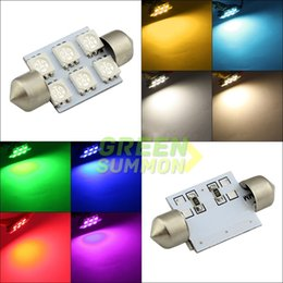 Wholesale Purple Map - 36mm 6 5050 SMD LED Light Festoon Door Interior Dome Map LED Bulb