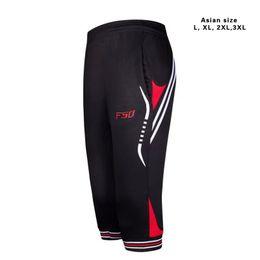 Wholesale Pants Sport Running - 2017 New Men's Running Training Pants Joggings Cropped 3 4 Thin leg Pant Men Sports Fitness Trousers Sweatpants Asian size L-3XL free shipp