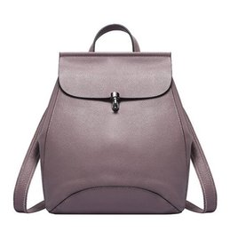 designer backpacks 6lz2  2016 Designer Ladies Backpacks Genuine Leather Backpacks Luxury Handbags  Women Fashion School Bags Vintage Backpack Style