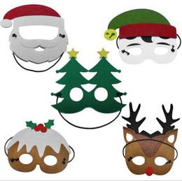 Wholesale Masquerade Mask Kids - Christmas Masks Christmas Tree Elk Joker Santa Claus Masks Xmas kids Masquerade Masks Costumes Children Party Supplies mask KKA3149