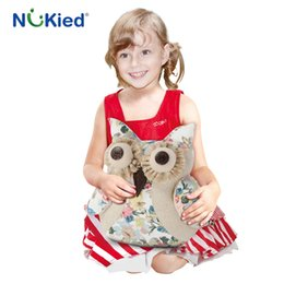 Wholesale Owl Baby Doll - NUKied New arrival type cartoon owl doll pillow cloth toys High quality pacifying toys Cute owl dolls baby educational Dakimakura