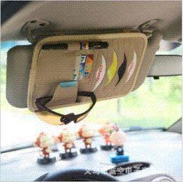 Wholesale Dvd Car Holder Bag - 8pcs Disks Car CD Holder Auto Visor DVD Disk Card Case Clipper Bag Car Styling Interior Organizer Cover stowing tidying