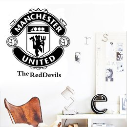 Wholesale print vinyl stickers - Hot living room bedroom wall stickers letters printed football club popular new 2016 European and American fashion