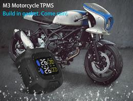 Wholesale Moto Tires - Original CAREUD Car Wireless Motorcycle TPMS Tire Pressure Monitoring System Motor Tyre Aotu Alarm 2 External Sensor Moto Tools
