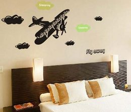 Wholesale Personalized Wall Sticker Boys - 2016 Free Shipping Customer-made personalized name pvc plane aeroplane waterproof wall sticker for boys room removable home decor