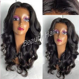 Wholesale Human Hair Super Long Wig - 2016 Super fashion wavy wigs silk top full lace human wigs lace front wigs with baby hair