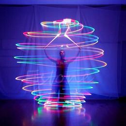 2019 светодиодные шарики Оптово-Pro разноцветные светодиодные светящиеся POI брошенные шары загораются для танца живота ручной реквизит -B116 скидка светодиодные шарики