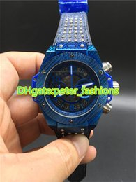Wholesale Denim Watch Band - Hot new men's watches, denim ribbons rivets watch bands quartz watches blue stainless steel watchcase sports waterproof watches size 44mm