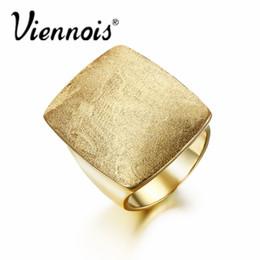 viennois klingelt Rabatt Großhandel-Viennois Gold oder Silber Farbe GB Geometrische Größe Ringe für Frau Schmuck Rechteckige Hochzeiten Partei Ringe