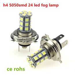 Wholesale H4 Super White Xenon - dc 12V H4 5050smd 24led 27led 18led Super Bright Led Fog Light HeadLights led 2394 xenon white auo led