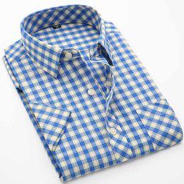 Wholesale Mens Army Dress Shorts - Wholesale-2016 Summer New Arrival Men's Short Sleeve Shirt Mens Turn Down Collar Casual Plaid Shirt Male Hot Short Tops Dress Shirts AZ12