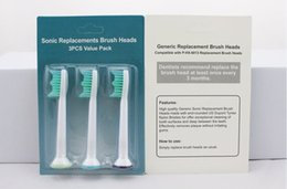 Wholesale toothbrush replacement heads wholesale - Hot In stock HX6013 Sonicare Toothbrush Head packaging Electronic Replacement Heads For Phili Sonicare ProResults HX6013 Toothbrush free DHL
