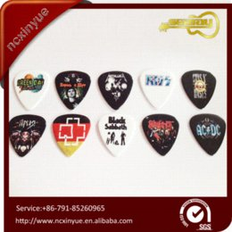 Wholesale Image Guitar - Can customized your own logo image personalized celluloid double-sides guitar pick plectrum Guitar Parts & Accessories