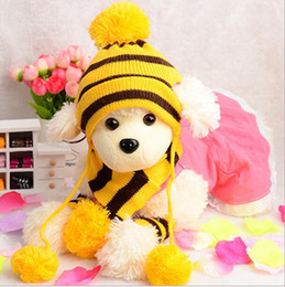 Wholesale Socks Wholesale Products - Winter Pet Puppy Accessories For Dogs Knitted Striped Hats Scarf Socks Little Small Big Animals Yorkshire Chihuahua Cat Products G849