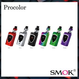 Wholesale Wholesale Oled - Authentic Smok ProColor kit with 1.3 inch OLED Colorful Screen Pro Color 225w Mod & 5.0ml TFV8 Big Baby Tank 100% Original