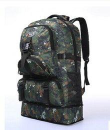 Wholesale Travel Backpacks 75l - High Quality 60L Outdoor Military Sports Hiking Backpack Camping Bag Rucksacks Travel Bag Computer Bag