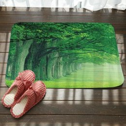 Wholesale hand landscapes forest - Forest trees landscape printing, the sitting room the bedroom antiskid vacuuming floor MATS, bathroom MATS at the door MATS