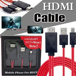Wholesale Hd Converter Boxes Wholesale - HDMI Cable Full HD 1080P Micro USB Charger MHL (6.5 Feet 11pin) Adapter Converter Digital Cable For Samsung S5 S4 S3 Note 3 2 Retail Box