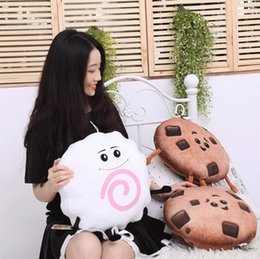 Wholesale Cartoon Monkey Pillow - Creative Cartoon Emoji Movie Series Plush Toys Alienware Sushi Love Cat Cookie Monkey Stuffed Pillow KJids Xmas Gifts CCA8247 30pcs