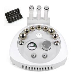 Wholesale Dermabrasion Vacuum - 2 IN 1 Diamond Microdermabrasion Dermabrasion Face Peeing Vacuum Skin Care Facial Beauty Equipment + blackhead removal kit